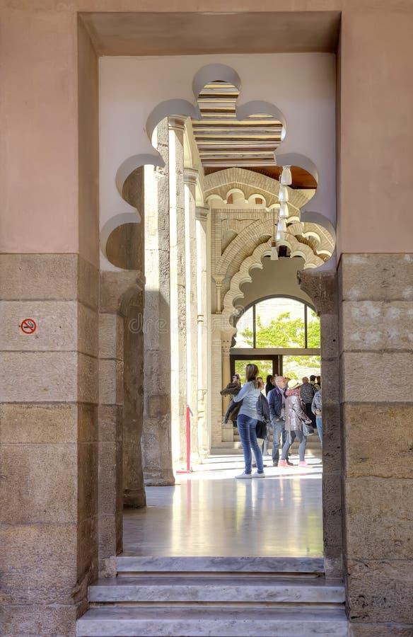 saragossa Palácio de AljaferÃa imagem de stock