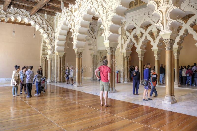 saragossa Palácio de AljaferÃa foto de stock royalty free