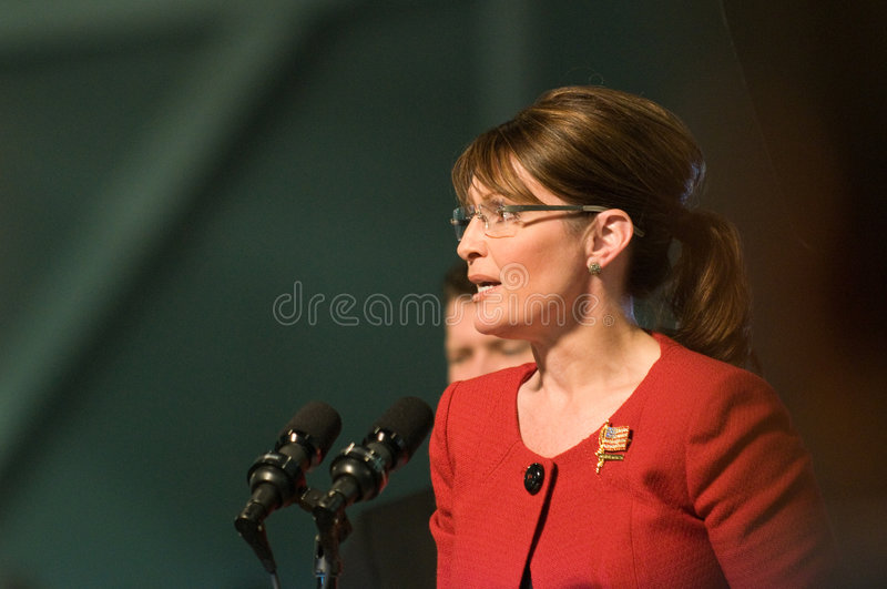 Sarah Horizontale Palin royalty-vrije stock afbeelding