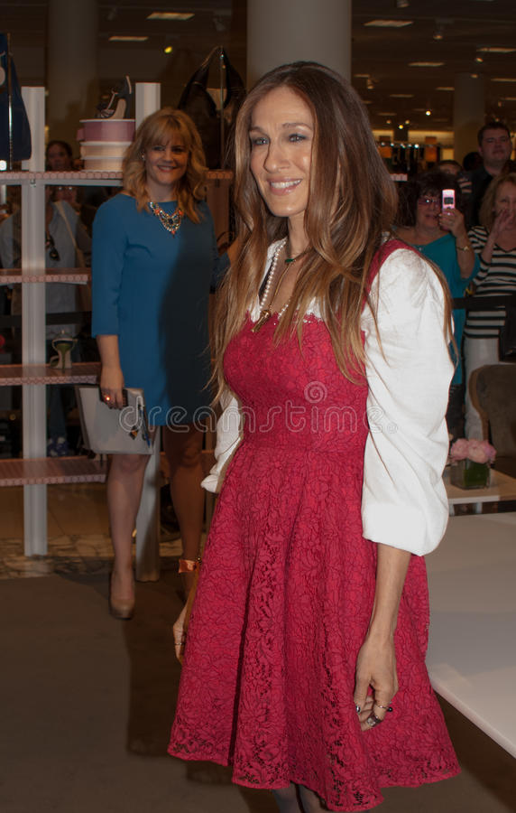 Sarah Jessica Parker avec la collection de SJP, Miami photo stock