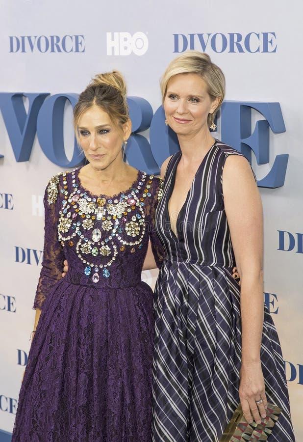 Sarah Jessica Parker i Cynthia Nixon zdjęcia royalty free