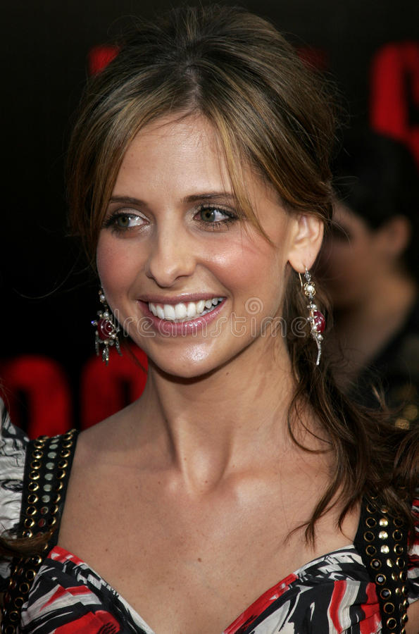 Sarah Michelle Gellar. At the Los Angeles premiere of `The Grudge 2` held at the Knott`s Scary Farm in Buena Park, United States on October 8, 2006 stock photos