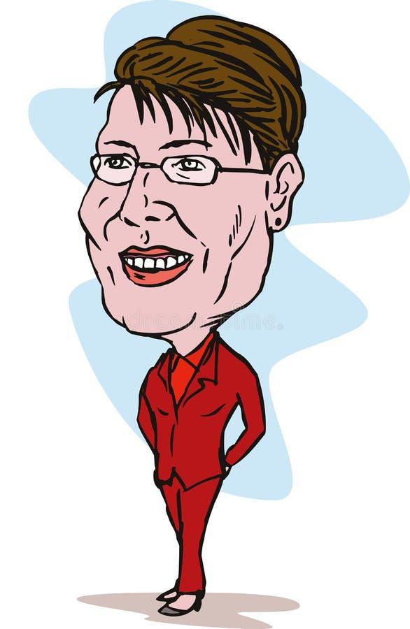 Sarah Palin stock de ilustración
