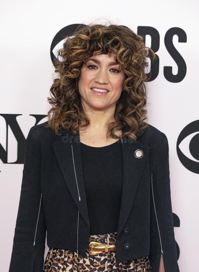 Sarah Stiles på Tony Awards Meet 2019 kandidaterna trycker på Junket fotografering för bildbyråer