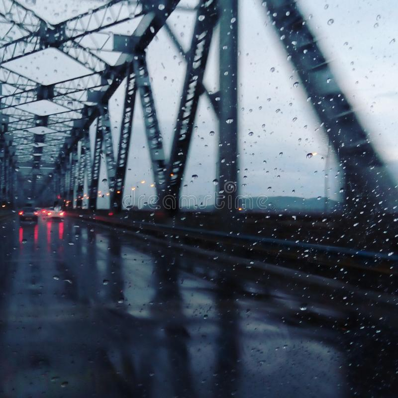 Saraighat Bridge Guwahati. It is a beautiful bridge with is constructed over mighty river bramphaputra that connects Guwahati and Lower Assam royalty free stock photo