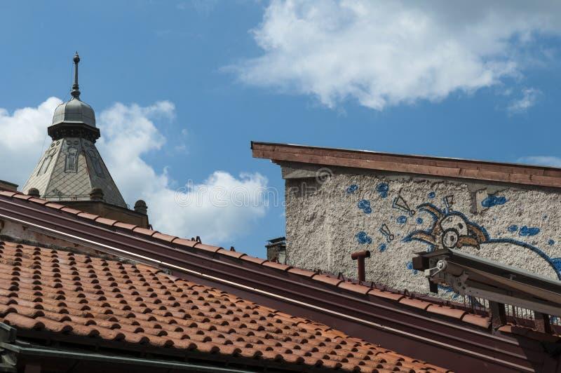 Sarajevo, Bosnia and Herzegovina, Bascarsija, neighborhood, old town, district, square, mosque, minaret, skyline, bazaar, market. Sarajevo, Bosnia and royalty free stock images
