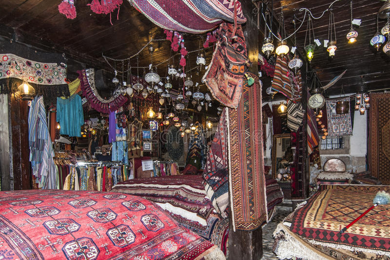 Sarajevo, la Bosnia-Erzegovina, Europa, Europa, coperte turche e deposito degli oggetti immagini stock