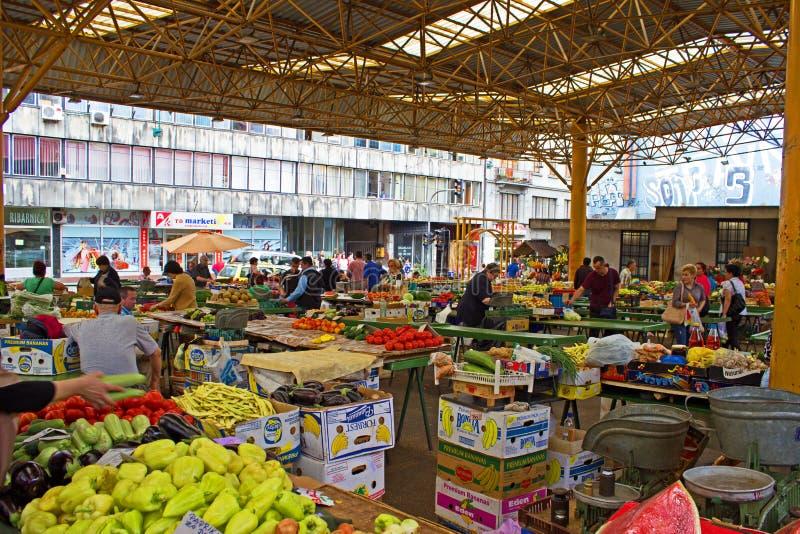 Sarajevo Market Place. Market place in downtown Sarajevo Bosnia Herzegovina royalty free stock photos
