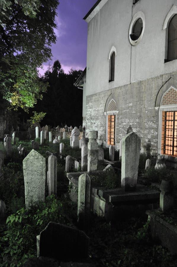 Sarajevo Muslim Graveyard stock images