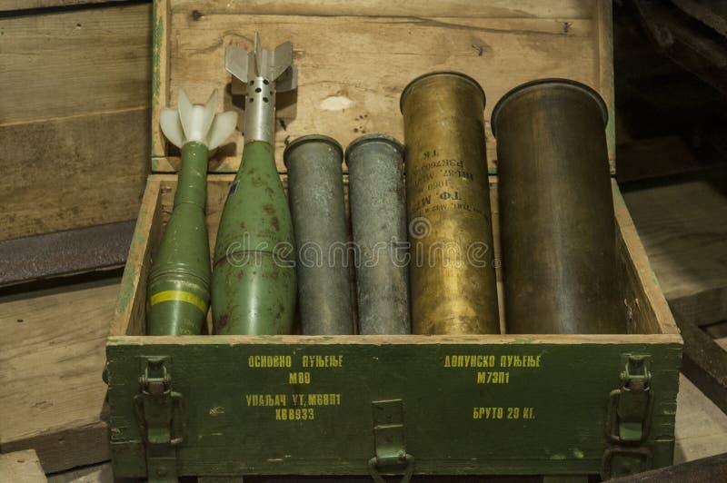 Sarajevo, túnel, museo del túnel de Sarajevo, familia de Kolar, brazos, guerra bosnio, el cerco de Sarajevo fotos de archivo libres de regalías
