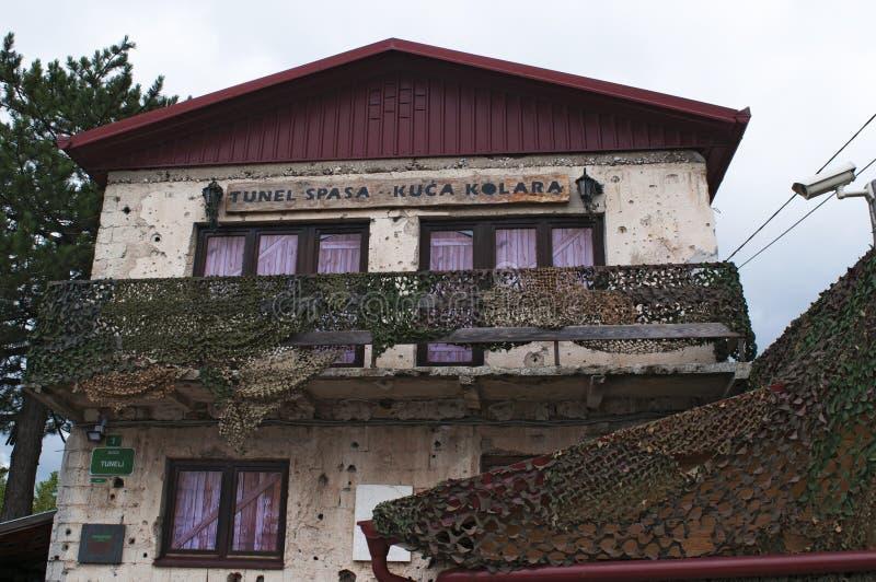 Sarajevo, túnel, museo del túnel de Sarajevo, familia de Kolar, guerra bosnio, el cerco de Sarajevo, símbolo imagen de archivo