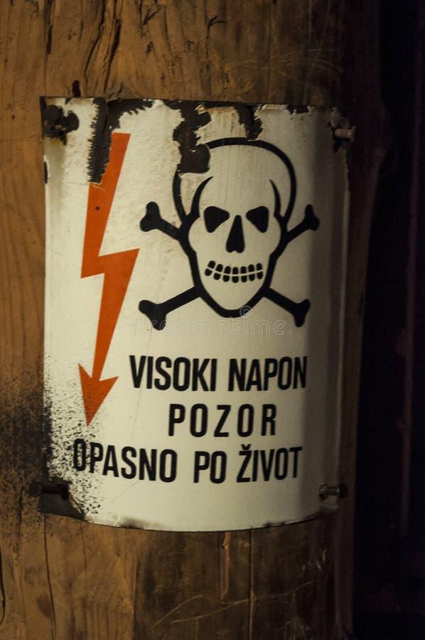 Sarajevo, tunel, Sarajevo Tunelowy muzeum, Kolar rodzina, Bośniacka wojna, metro oblężenie Sarajevo, wysoki woltaż zdjęcie royalty free