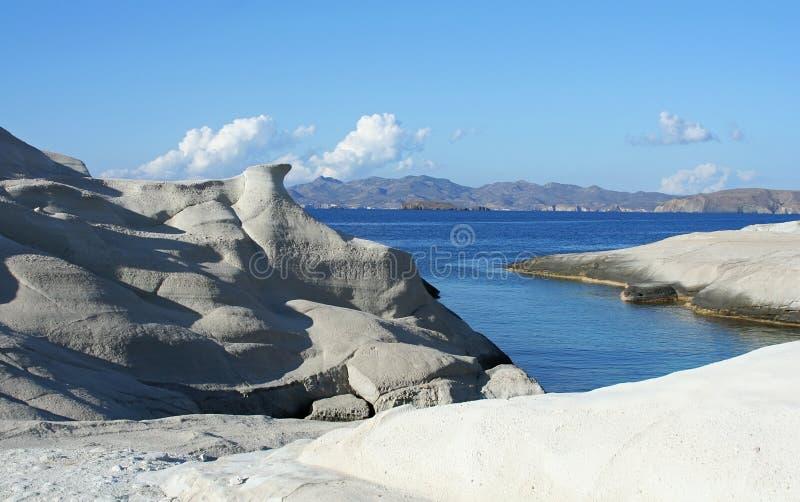 sarakiniko βράχων στοκ εικόνα