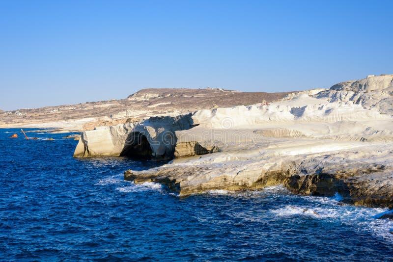 Sarakiniko Melos Grèce photos stock