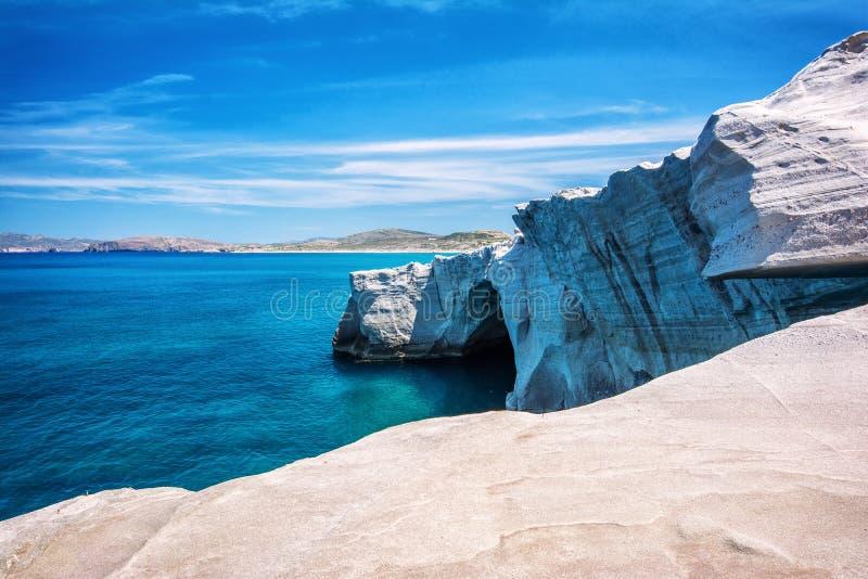 Sarakiniko - Milos, Greece royalty free stock image