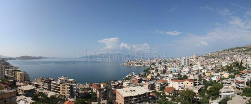Sarandë, Albania panorama royalty free stock photos