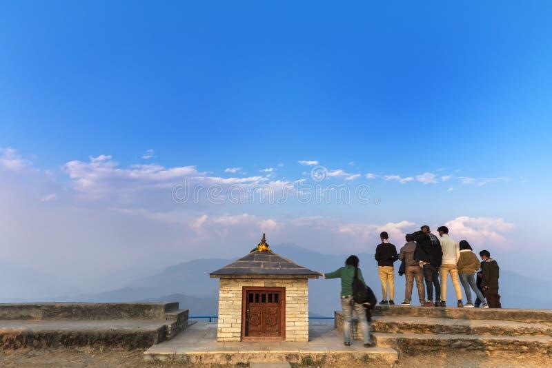 Sarankot View point Pokhara Nepal stock photography