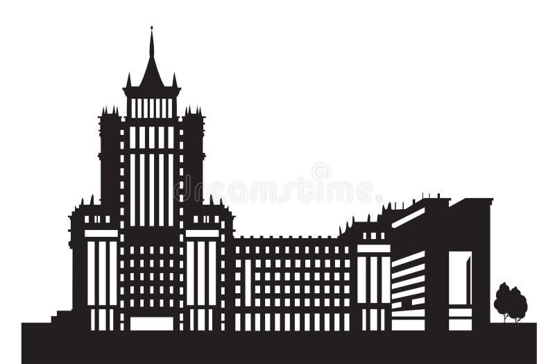 Saransk uniwersyteta sylwetka royalty ilustracja