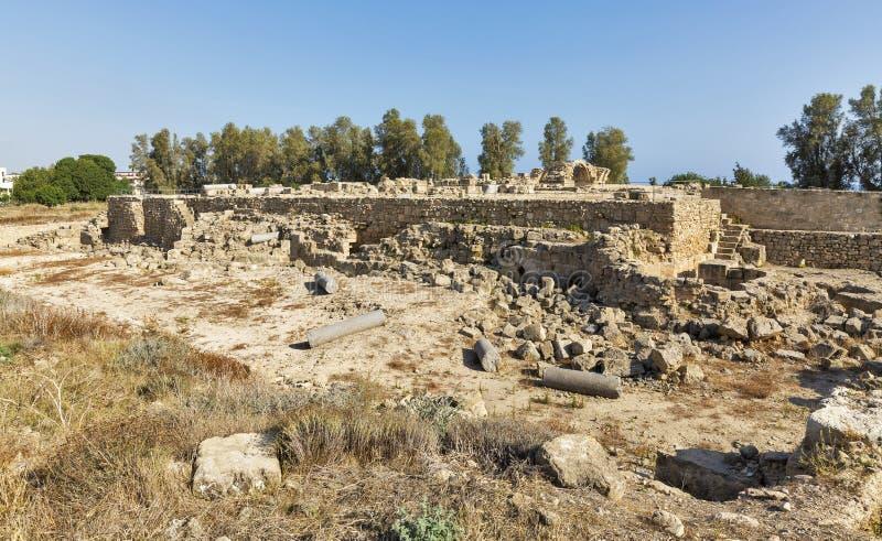 Download Saranta Colones城堡废墟在帕福斯,塞浦路斯 库存图片 - 图片 包括有 水平, 地中海: 72355263