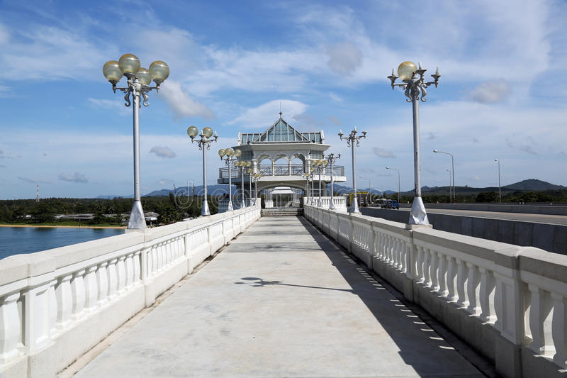 Sarasinbrug in Thailand royalty-vrije stock afbeelding