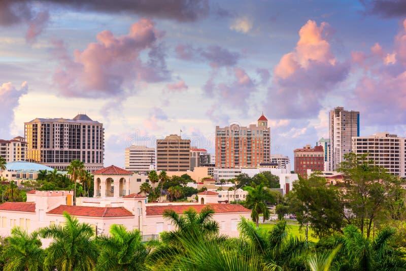 Sarasota Florida Skyline royalty free stock photos
