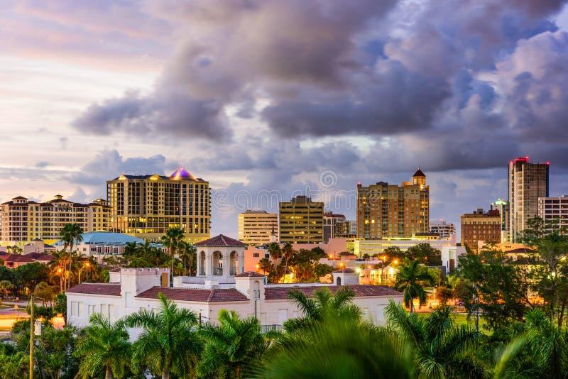 Sarasota, Florida, USA. Downtown skyline stock image