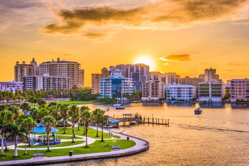 Sarasota, Florida, USA. Downtown skyline on the bay stock image
