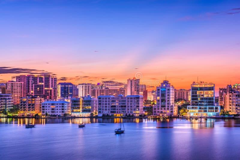 Sarasota, Florida, USA. Skyline on the bay stock image