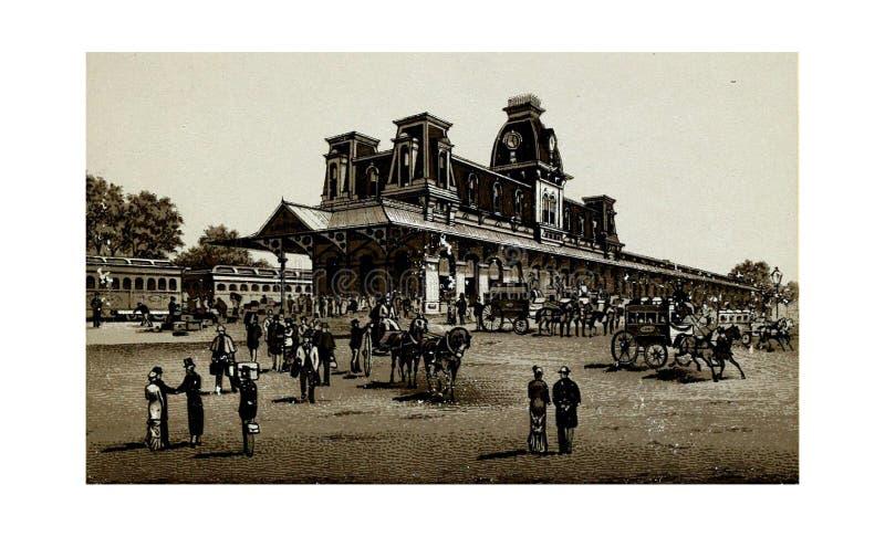Saratoga miasto Rytownictwo ilustracja zdjęcie stock