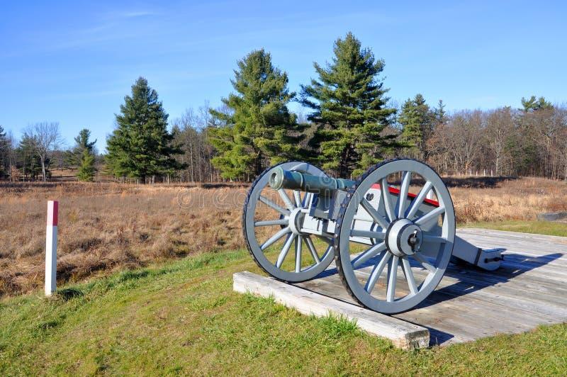 Saratoga parkerar nationellt historiskt, New York, USA royaltyfri foto