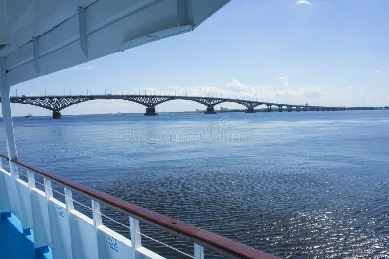 Saratov bro royaltyfri fotografi