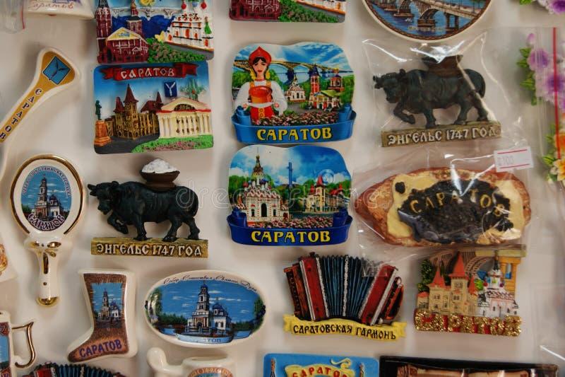 Saratov Engels, souvenir royaltyfri foto