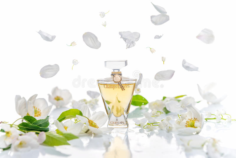 Saratov, Russia - May 9, 2017: Champs Elysees Eau de Toilette G royalty free stock photos