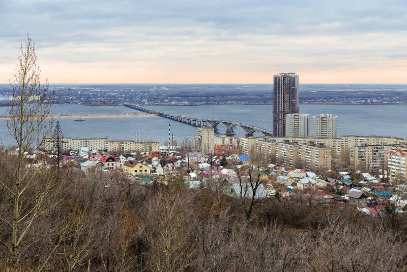 Saratov stad. Ryssland arkivfoto