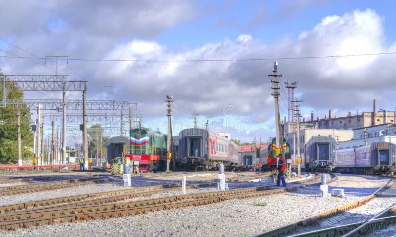 Download Saratov Stationnement De Train Photo stock éditorial - Image du saratov, réparation: 77155148