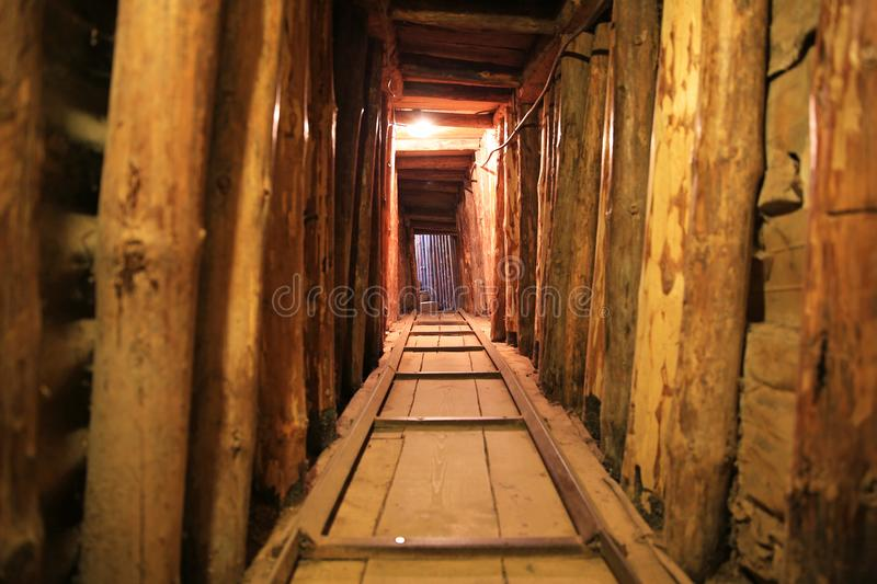 Saravejo Tunnel, Interior Photo. Interior photo of the Saravejo Tunnel which provided a lifeline for Bosnian citizens` survival during the Seige of Saravejo from stock photos