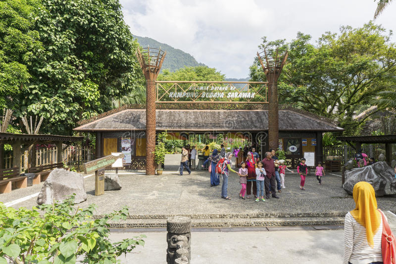 Sarawak Cultural Village, Borneo stock photography