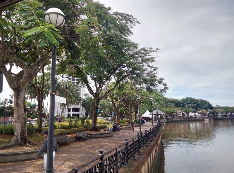 Sarawak flodstrand arkivfoto
