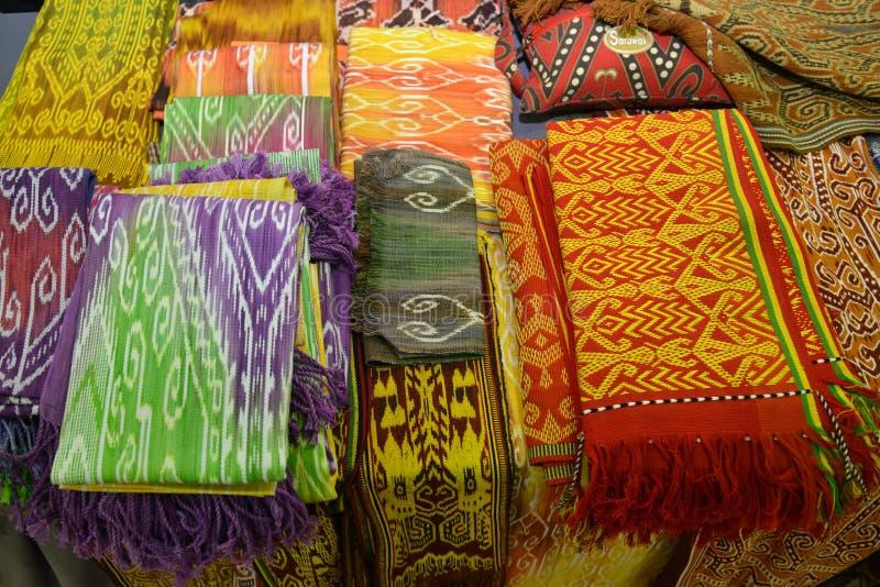 Sarawak handcrafted matérias têxteis foto de stock royalty free