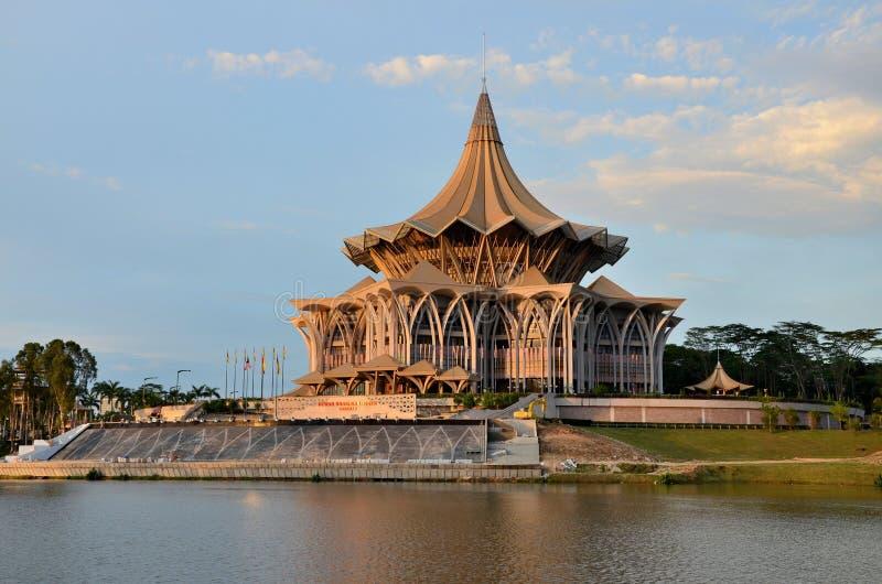 Sarawak stanu prawodawczy parlamentarny zgromadzenie buduje Kuching Malezja obrazy stock