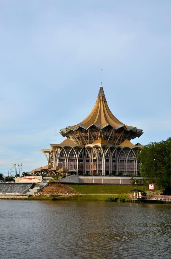 Sarawak stanu prawodawczy parlamentarny zgromadzenie buduje Kuching Malezja obraz stock