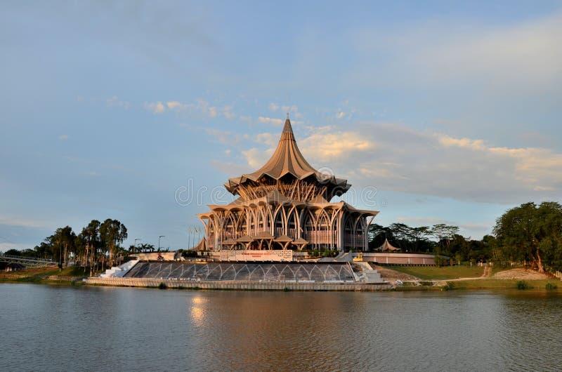 Sarawak stanu prawodawczy parlamentarny zgromadzenie buduje Kuching Malezja zdjęcia royalty free