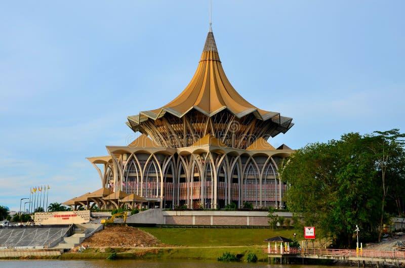 Sarawak stanu prawodawczy parlamentarny zgromadzenie buduje Kuching Malezja zdjęcie royalty free