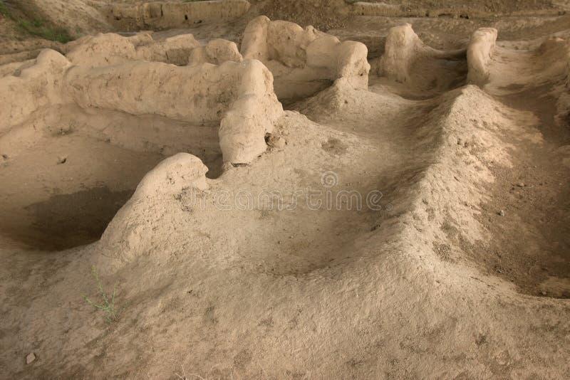Sarazm,塔吉克斯坦废墟  库存图片