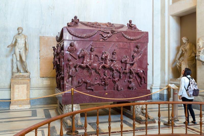 Sarcófago de Helena (madre de Constantina el grande), Vaticano fotografía de archivo libre de regalías