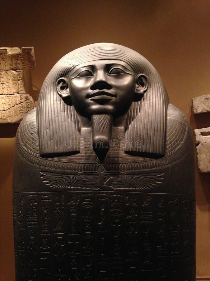Sarcófago de Horkhebit en el museo de arte metropolitano foto de archivo