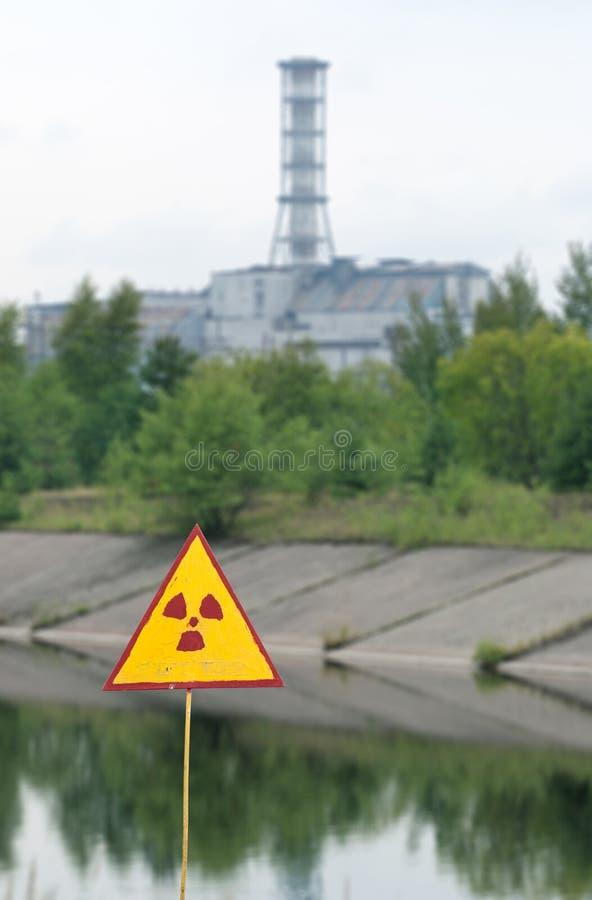 Sarcófago de la cuarta unidad del Chernóbil fotos de archivo