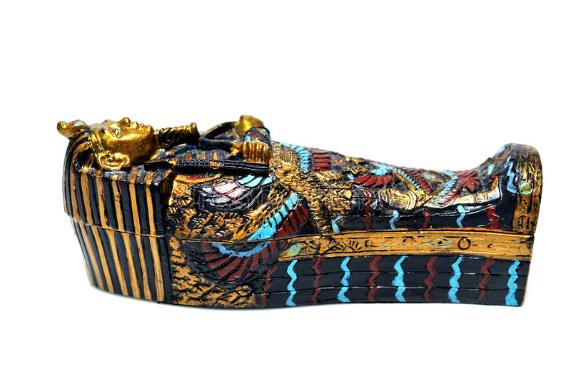 Sarcófago egípcio fotografia de stock