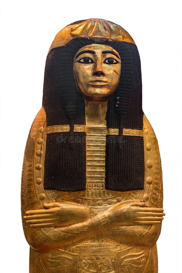 Sarcófago egípcio da rainha do torso fotografia de stock royalty free