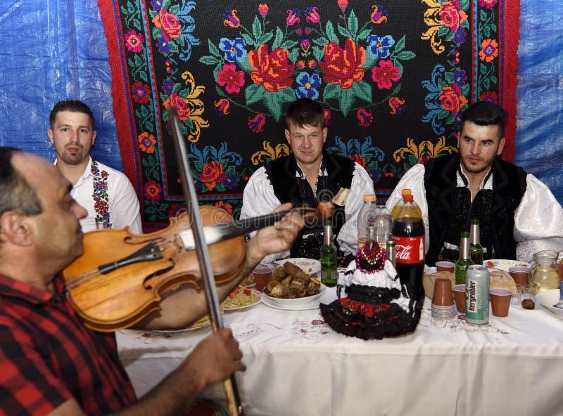 Sarclage rural traditionnel dans la région d'Oas, Roumanie photos stock